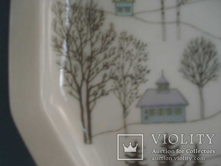 Коллекционная тарелка Rosenthal Weihnachten 1987. Художница Линнеа Рут Брюк., фото №6