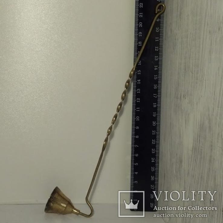 Гасник для свечей бронза латунь, фото №3