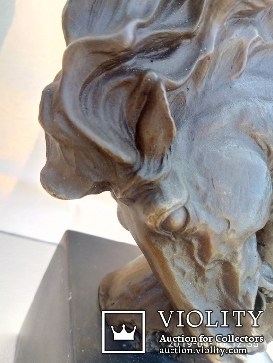 Голова лошади бронза мрамор Европа 4 кг, фото №5