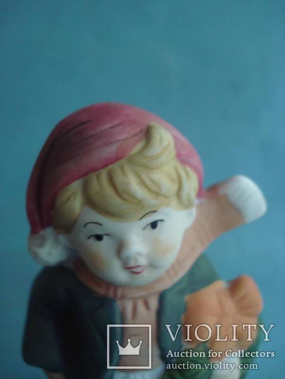 """""""Мальчишка в Рождественском наряде"""". Фарфор (бисквит). Винтаж., фото №3"""