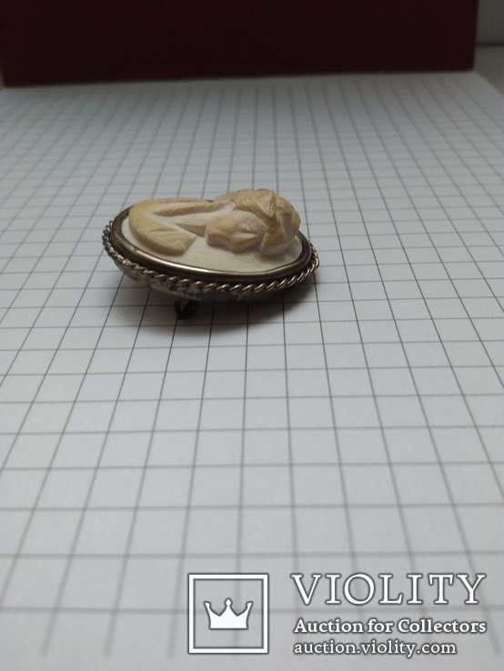 """Брошь """"Камея"""" из кости в серебряной оправе, фото №5"""