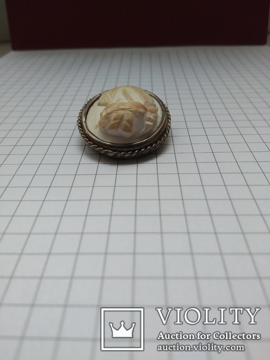 """Брошь """"Камея"""" из кости в серебряной оправе, фото №6"""