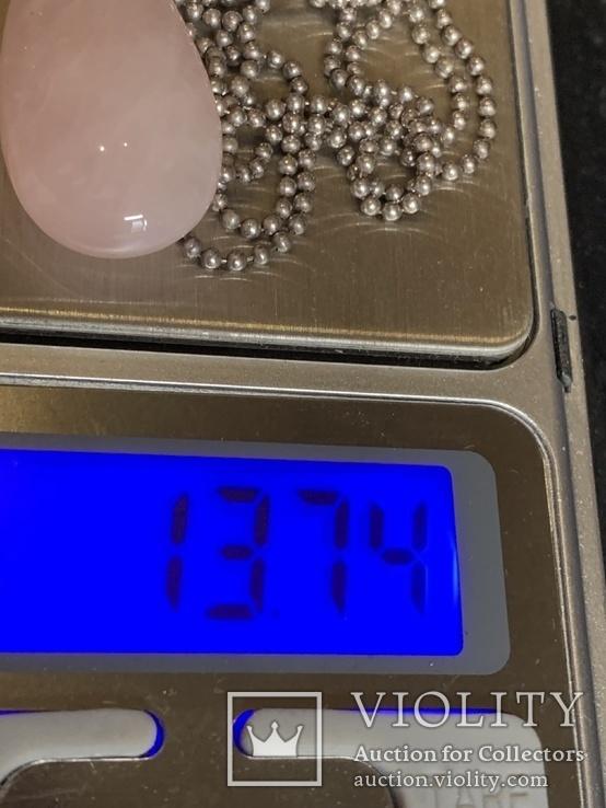 Колье с Италии серебро 925 с камушками, фото №8