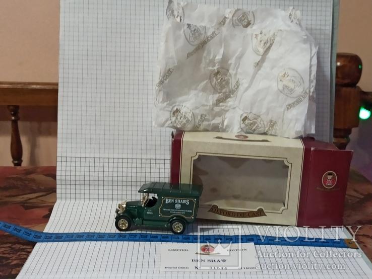 Oxford die-cast Ben Shaws минеральная вода 125 лет 1871 1996 модель фургон грузовик, фото №3
