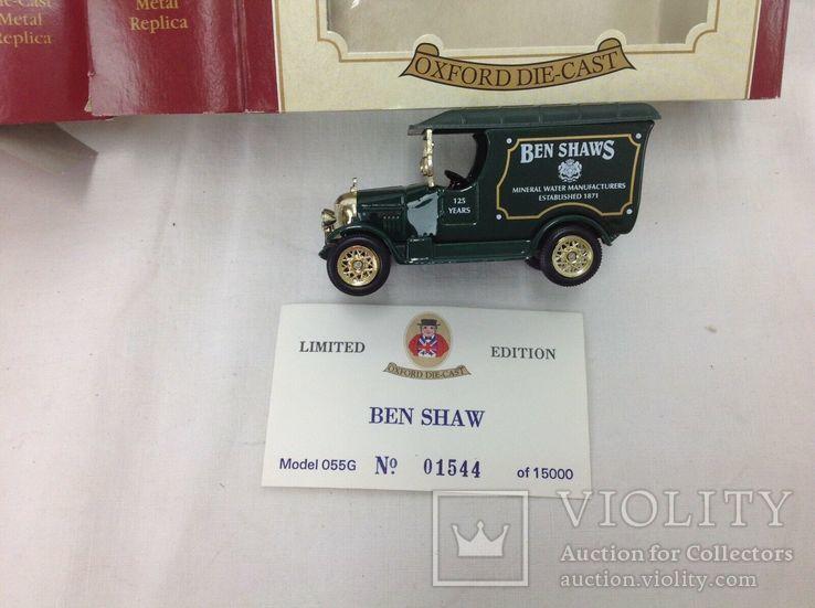 Oxford die-cast Ben Shaws минеральная вода 125 лет 1871 1996 модель фургон грузовик, фото №13
