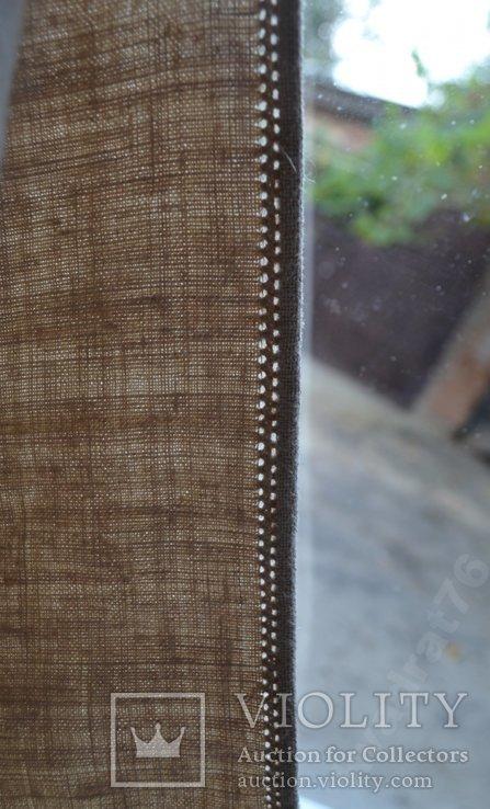 Старин вышитая сорочка. Вышиванка. Конопляное домотканое полотно. Объёмная вышивка. 117х68, фото №9