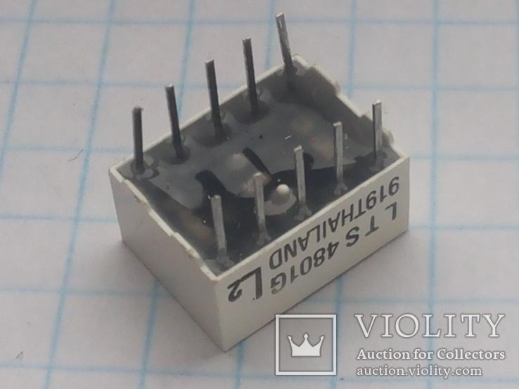 Индикатор 7-сегментный LTS 4801G зеленый 15 шт, фото №6