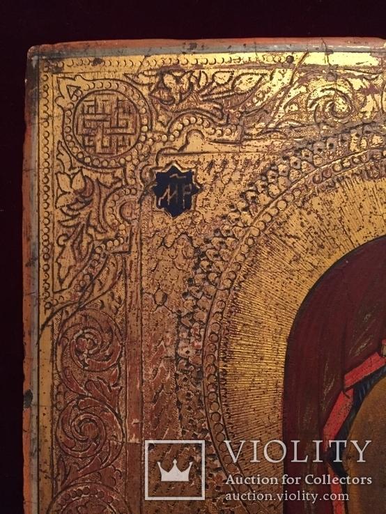 Икона Богородицы Золото, резьба, фото №4
