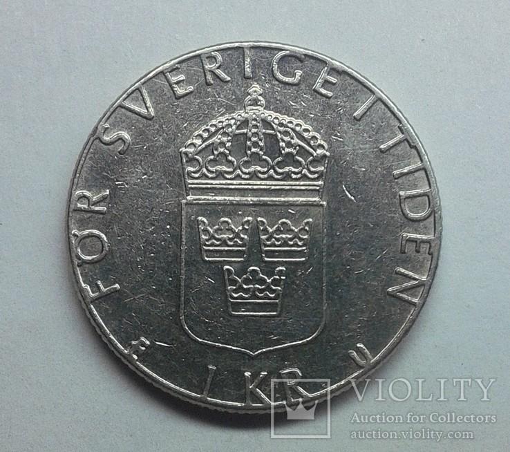 Швеция 1 крона 1984, фото №3