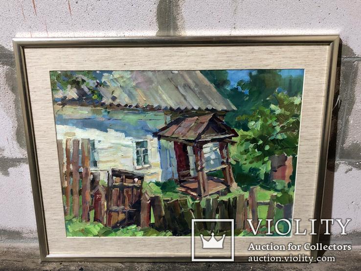 Картина Старый домик, Седнев - Калюжная Анастасия, 55х43, фото №2