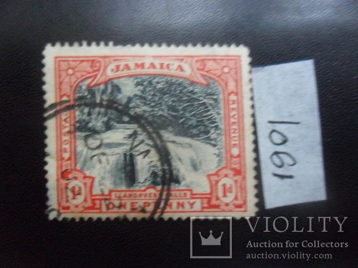 Британские колонии. Ямайка. 1901 г. Водопад. гаш
