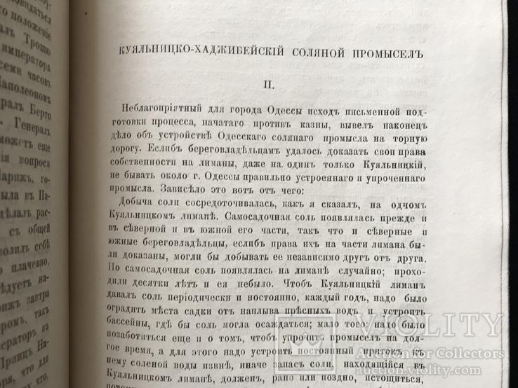 1873 Юридический вестник. Одесса. Куяльник Хаджибей, фото №2