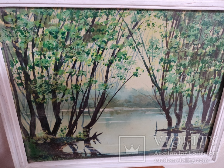 """Картина """"Весенний пруд"""" 2000 год Петровский В.В., фото №3"""