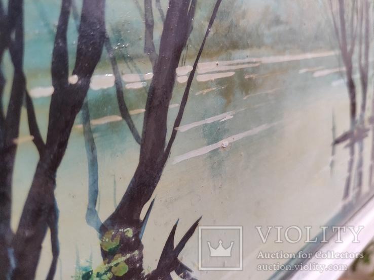 """Картина """"Весенний пруд"""" 2000 год Петровский В.В., фото №6"""
