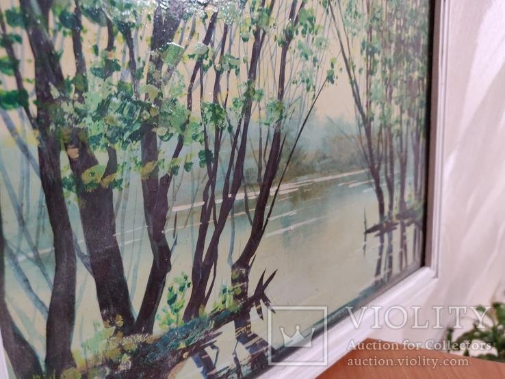 """Картина """"Весенний пруд"""" 2000 год Петровский В.В., фото №7"""