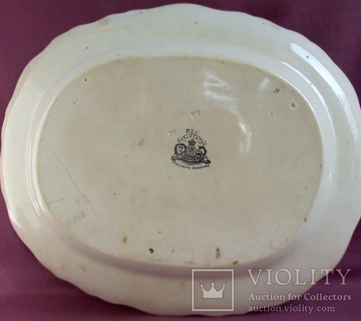 Блюдо  белое. Фарфор. ХІХ век.   Paris White Ironestone., фото №5