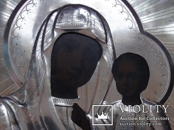 Венчальная пара в новодельных серебряных окладах. 18*14 см., фото №6