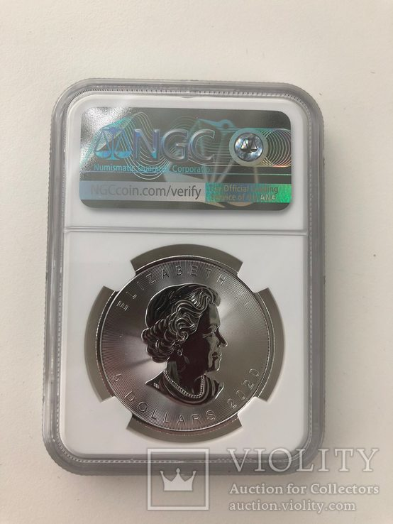 Канада 2020 год 5 долларов серебро 9999 Лист 1 унция, фото №3
