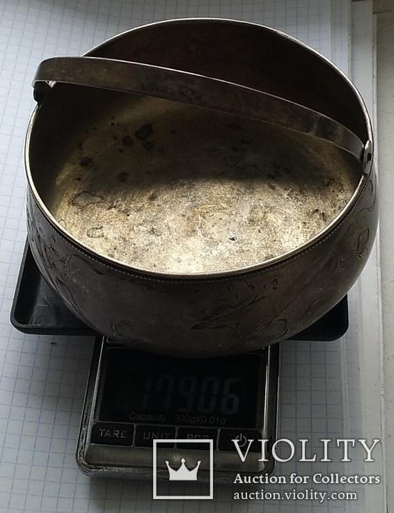 Конфетница №2 периода Царской России. Серебро 84 пробы., фото №12