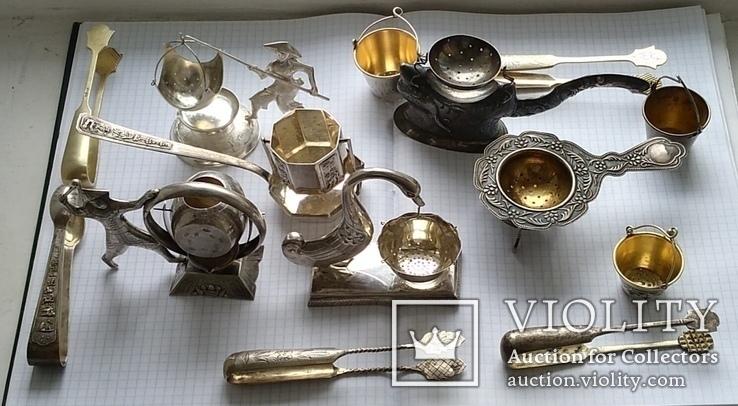 Подборка ситечек для чая + щипчиков для сахара, фото №11