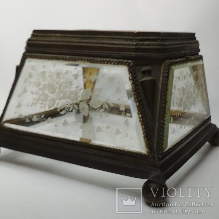 Старинная шкатулка - конфетница, фото №13