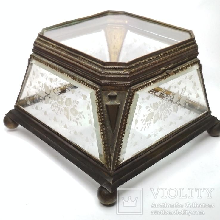 Старинная шкатулка - конфетница, фото №2