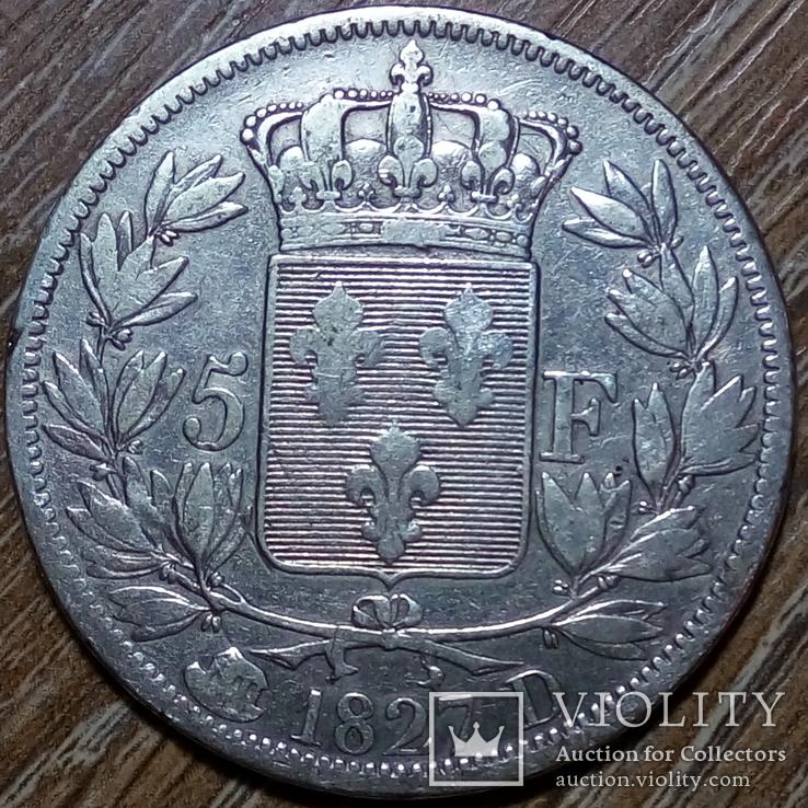 Франция 5 франков 1827 г., фото №2