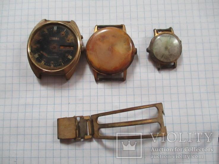 Часы позолота + часть браслета, фото №2