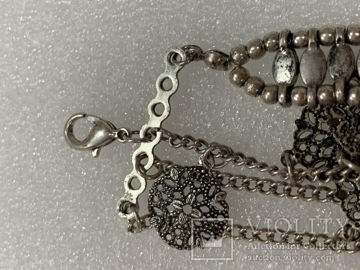 Винтажный металический браслет с Англии 26 грамм, фото №5