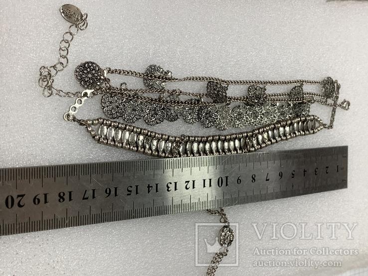 Винтажный металический браслет с Англии 26 грамм, фото №7