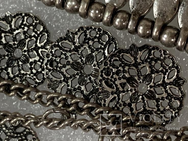 Винтажный металический браслет с Англии 26 грамм, фото №9