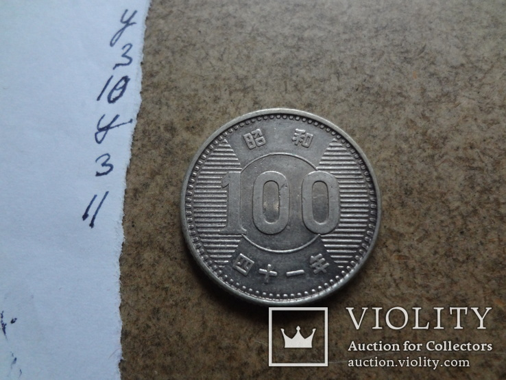 100  ен Япония серебро    (У.3.11)~, фото №2