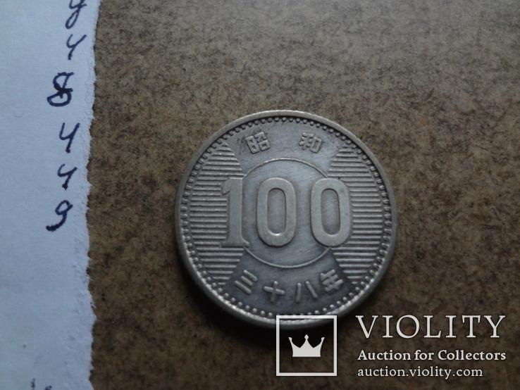 100 ен Япония  серебро   (У.4.10)~, фото №2