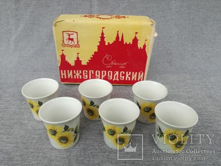 Стопки 6 шт. фарфор Нижегородский сувенир в родной упаковке, фото №2