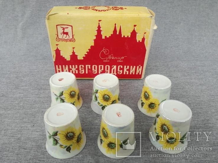Стопки 6 шт. фарфор Нижегородский сувенир в родной упаковке, фото №3
