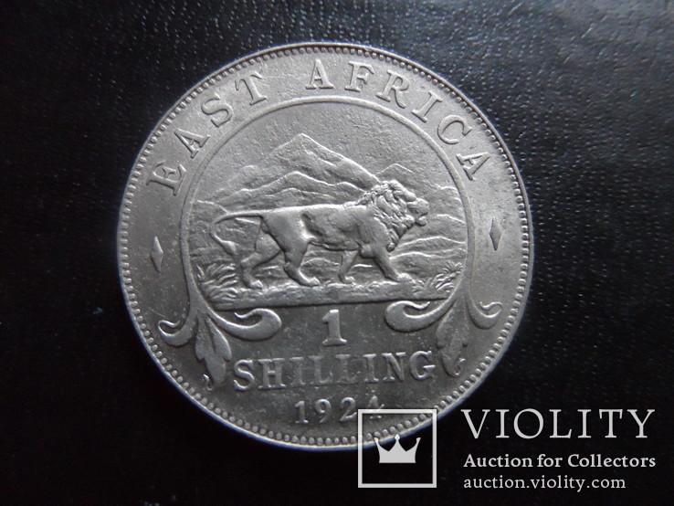1 шиллинг 1924  Восточная  Африка  серебро   (,I.8.15), фото №2