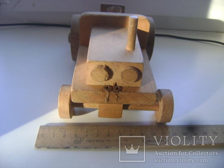 Деревянный трактор, фото №4