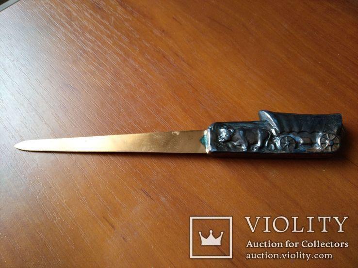 Нож для бумаг, писем Вестерн, фото №2