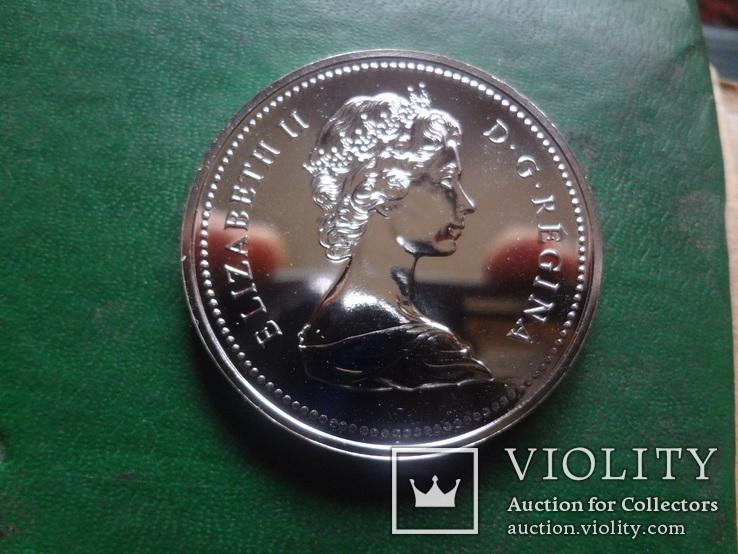 Доллар 1975  Канада  серебро  (2.4.15)~, фото №3