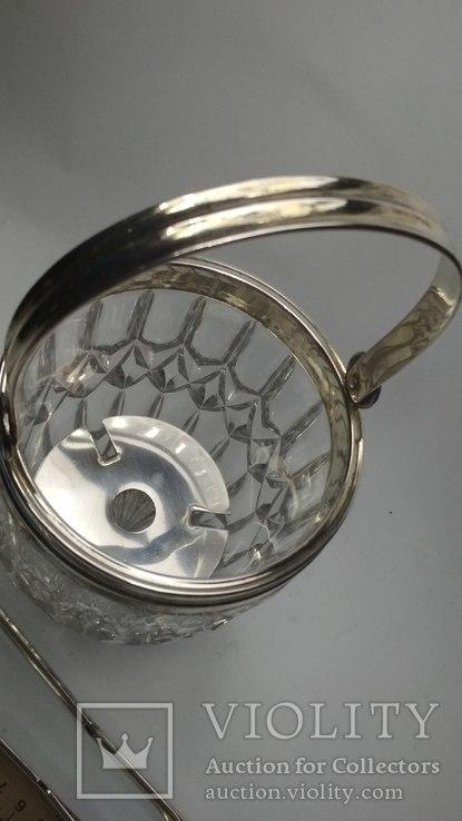 Хрустальное ведро для льда серебро, фото №5