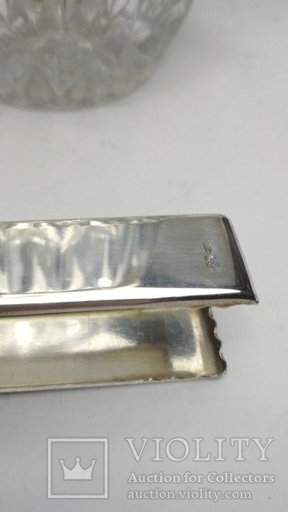 Хрустальное ведро для льда серебро, фото №9