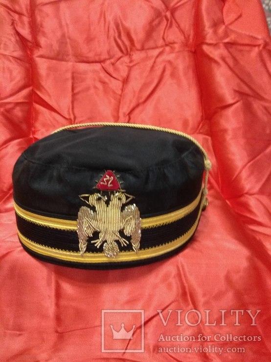 Масонский головной убор 32 Градуса Шотландского Устава, фото №2