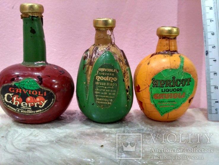 3 коллекционные мини бутылочки ликера 60-80 годов, фото №2
