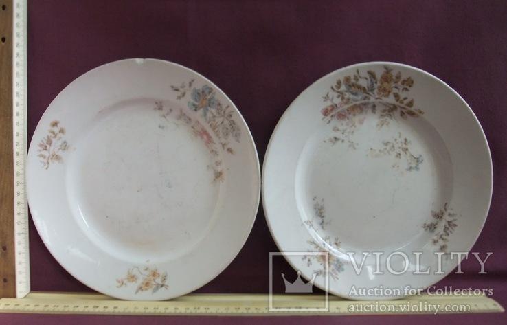 Тарелки обеденные  пара. Товарищество М.С.Кузнецова в Москве., фото №8