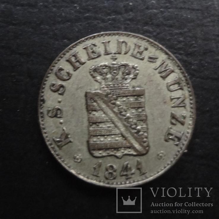 1/2  ньюгрошен 5 пфеннигов  1841  Саксония  серебро  ($4.1.31)~, фото №3