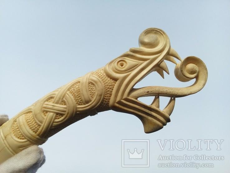 Велика ручка для ножа з кості., фото №3