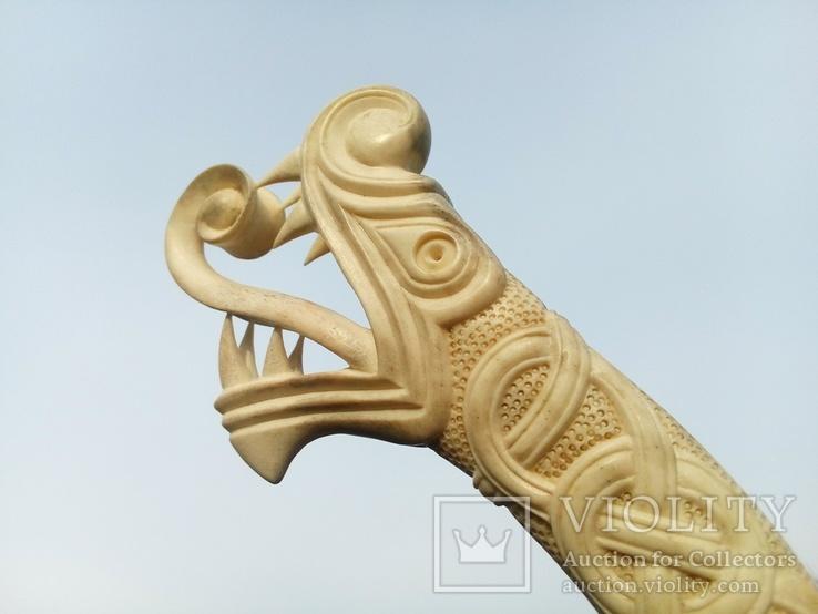 Велика ручка для ножа з кості., фото №5
