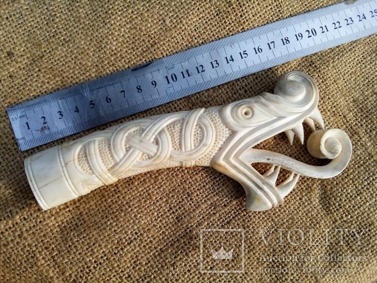 Велика ручка для ножа з кості., фото №6