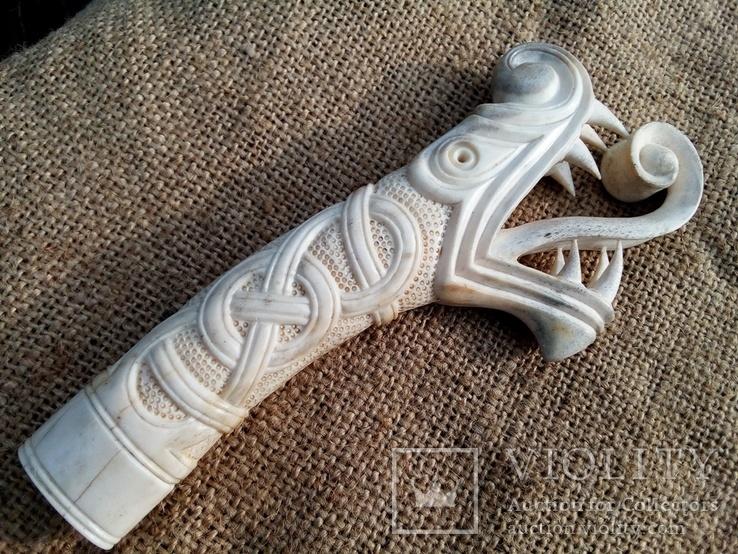Велика ручка для ножа з кості., фото №13