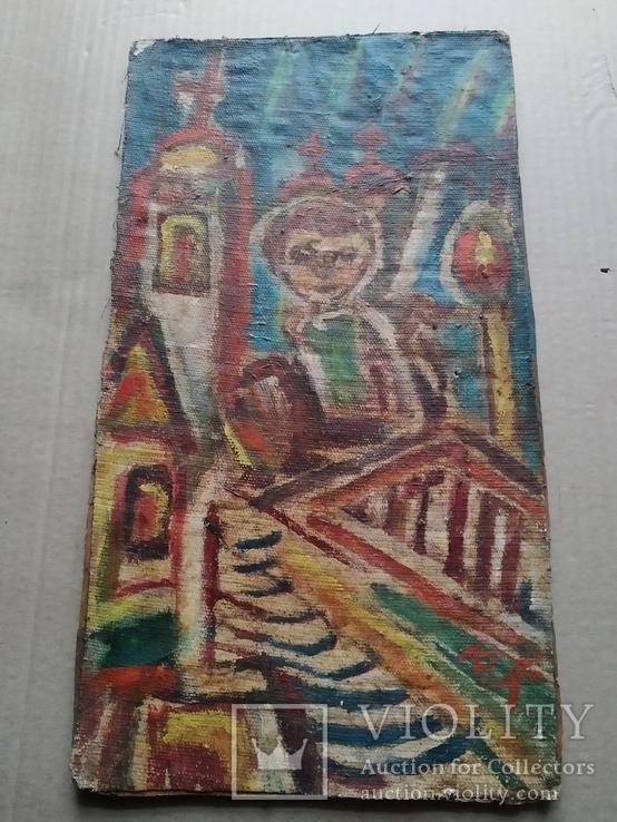 """Свеча"" х.на к./м.  Ю.Коваленко (1931-2004), фото №9"